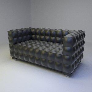 3ds kubus sofa 2 seater