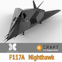 F-117A Nighthawk Pre-Rigged for Craft Director Tools