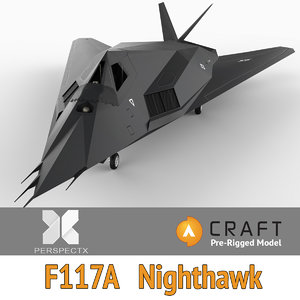 pre-rigged f-117a nighthawk craft 3d 3ds