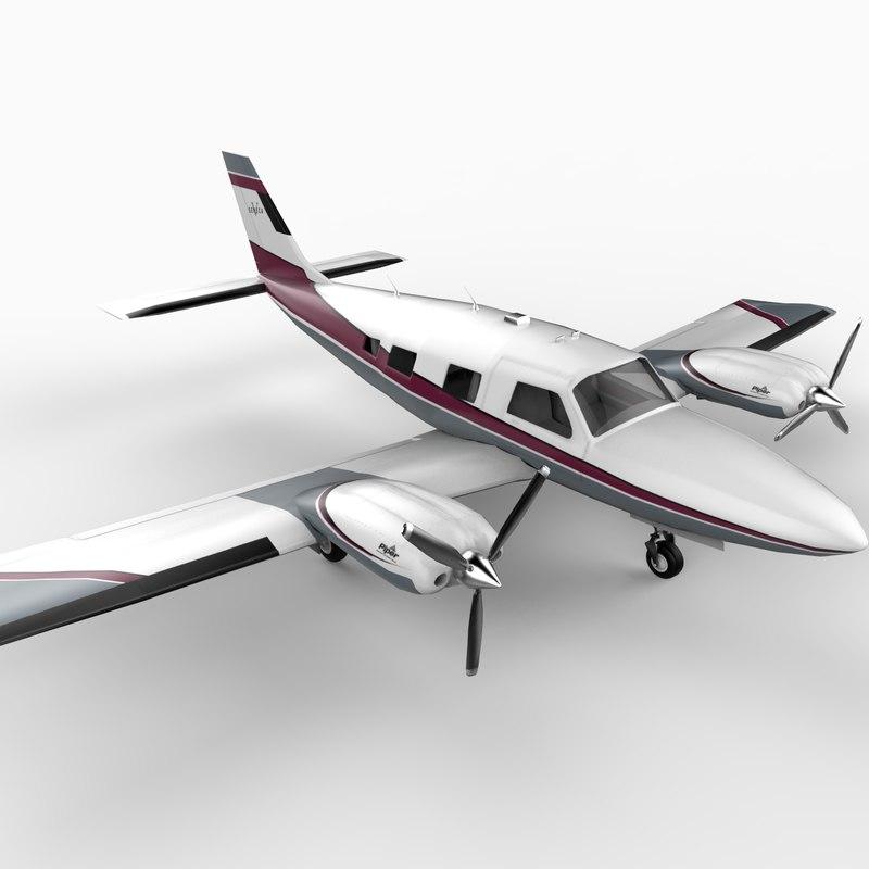 piper seneca aircraft 3ds