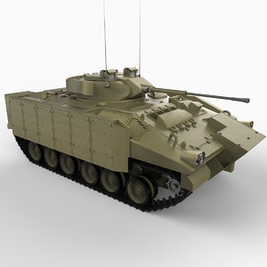 british warrior infantry tank 3d model