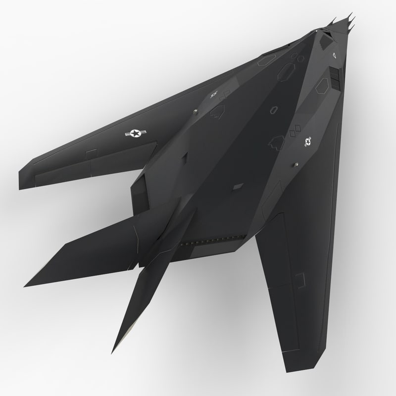 stealth attack aircraft air force 3d c4d