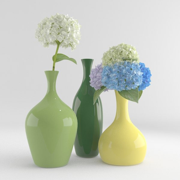 3d hydrangea flower pottery