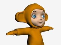 monkey symbol year 3d model