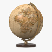 max world globe antique