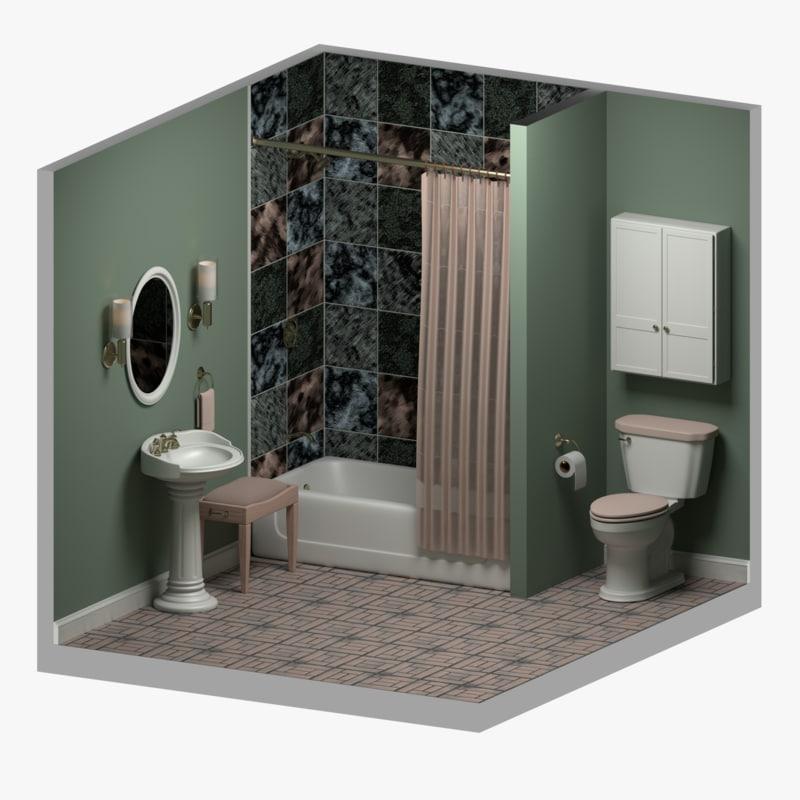 3d model bathroom sink for 3d bathroom drawing