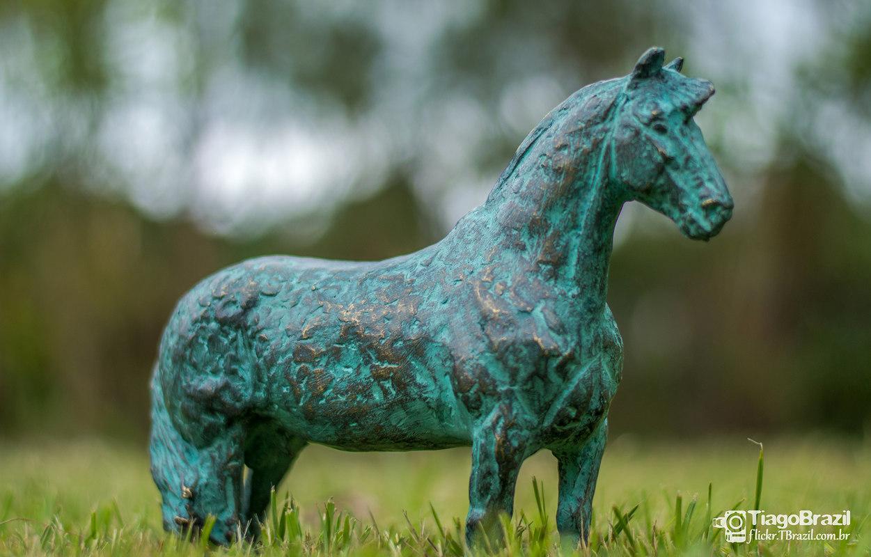 3d model bronze horse sculpture