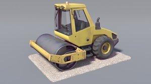3d steamroller pbr model