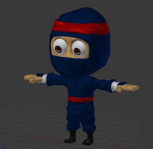 cartoon ninja 3d model