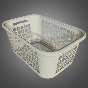 laundry basket - pbr 3d obj