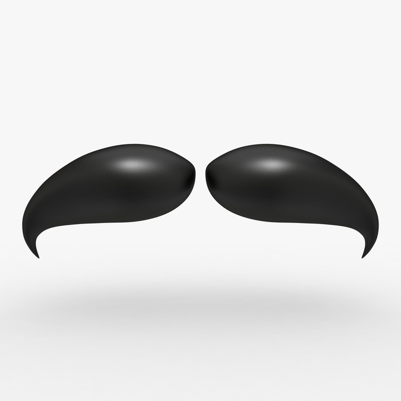 cartoon mustache 05 3d model