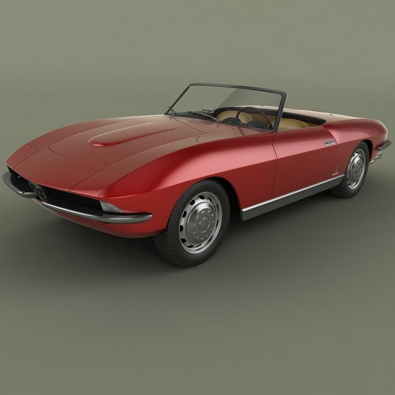 3d alfa romeo 2600 cabriolet