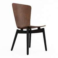 3d shell dining chair model