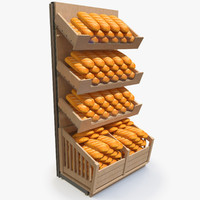 rack bread 3d model