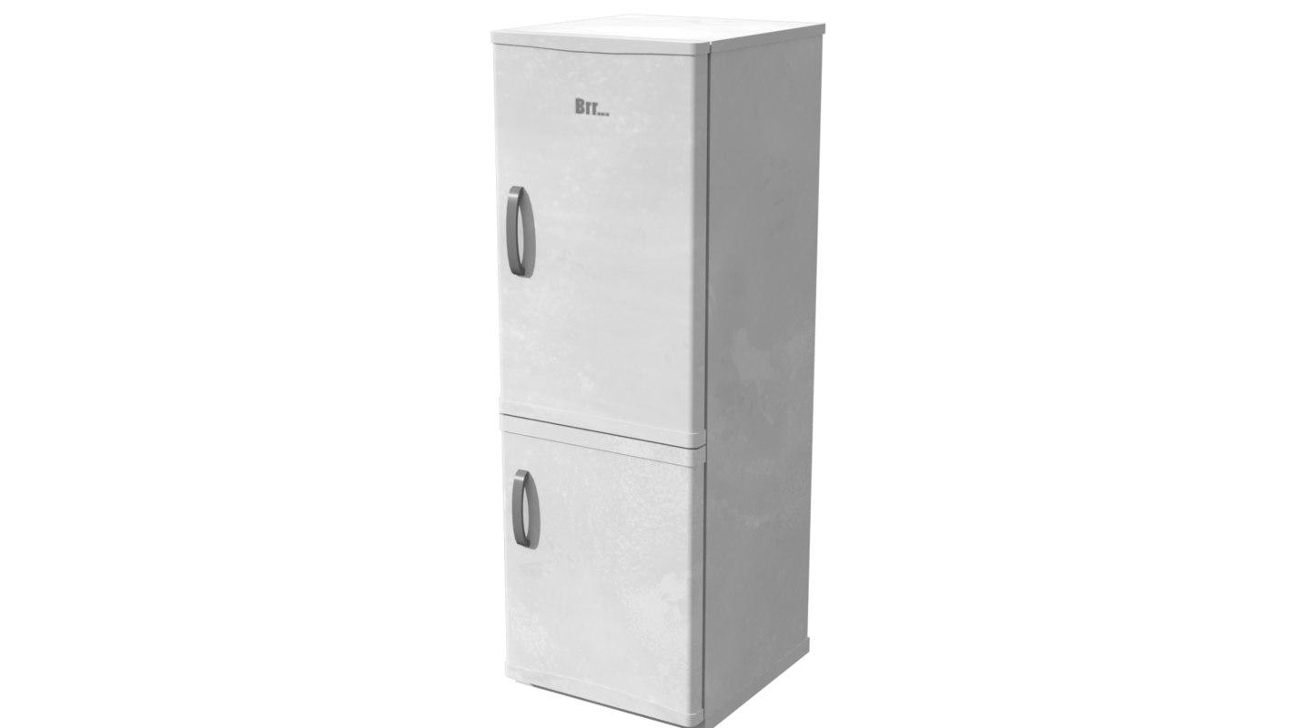 3d fridge kitchen model