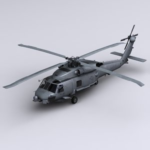 sh-60 seahawk helicopter sh-60b 3d 3ds