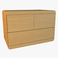 3d model simple modern wooden