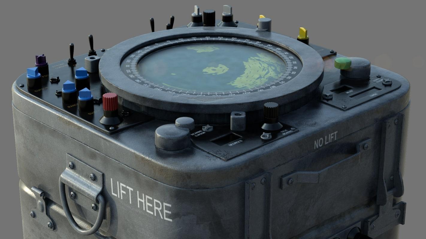 navy radar - 3d model