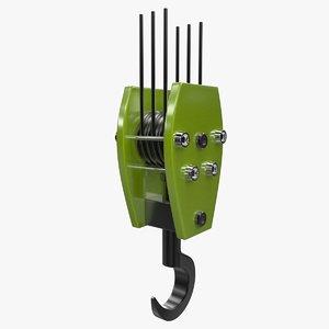 3d model crane hook