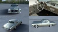 blend mercedes 190sl interior