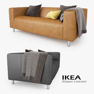 3d ikea klippan loveseat sofa seat