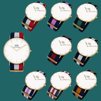 Wrist Watch golden with different strap collections