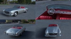 3d mercedes 190sl interior model