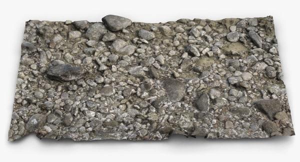 beach rocky surface 2 3d max