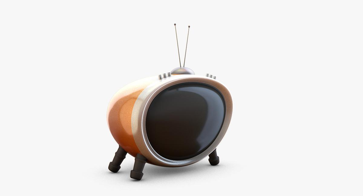 3d model funny tv