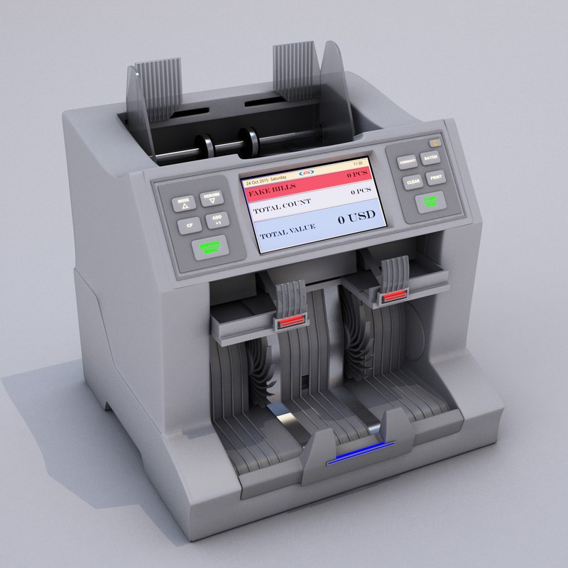 currency counting machine 3d model
