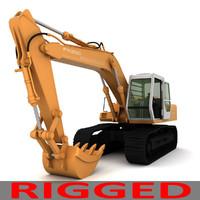 Rigged Fiat Hitachi Excavator FH200