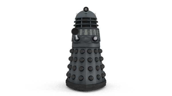 3d classic dalek doctor model