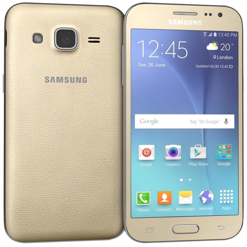 3d samsung galaxy j2 gold model