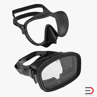 3d scuba masks model