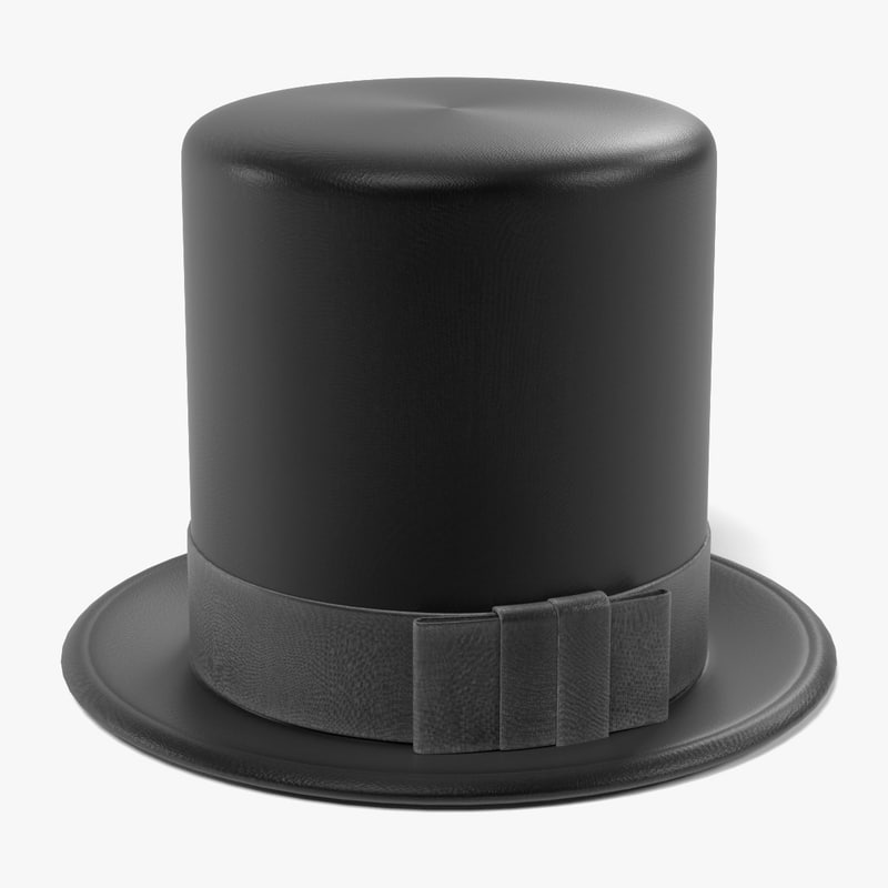 hat tophat 3d model