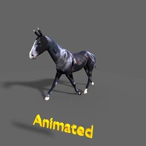 3d model black stallion