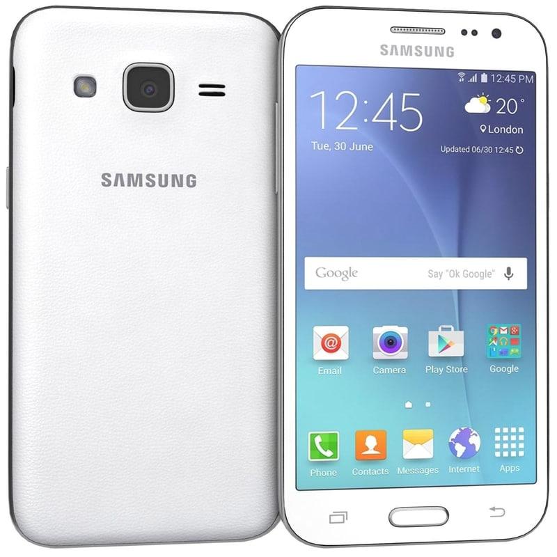 3d samsung galaxy j2 white