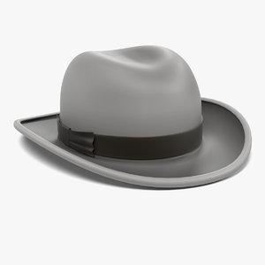 3d homburg hat