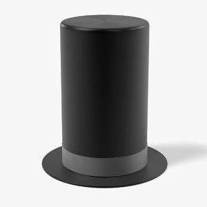 3d model hat tophat
