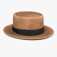 panama hat 3d fbx