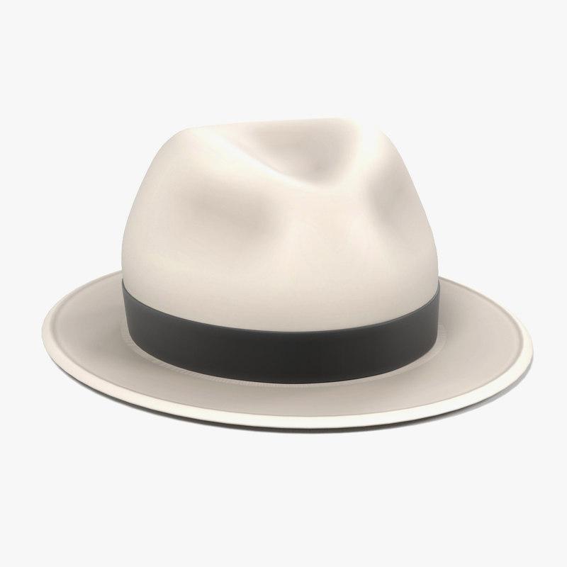 3d panama hat model