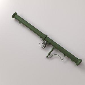 3d model m20 bazooka