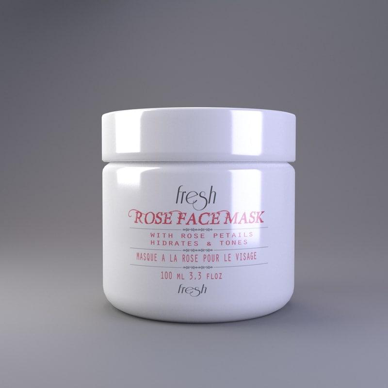 3d cream container