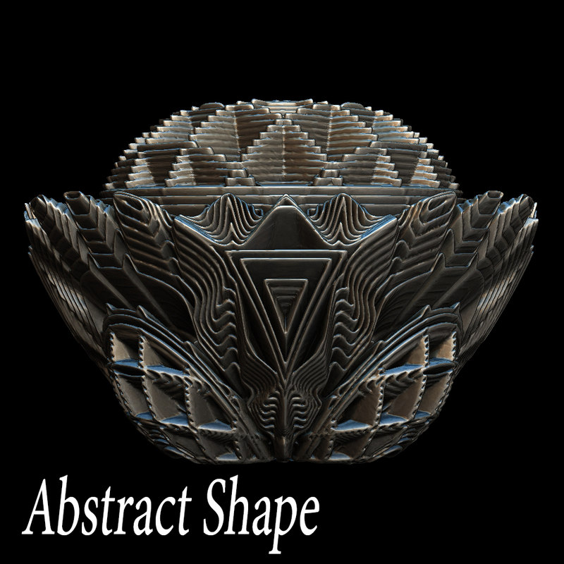 abstract 3d obj