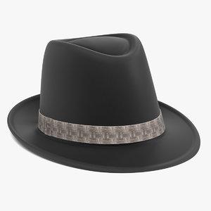 3ds max fedora hat