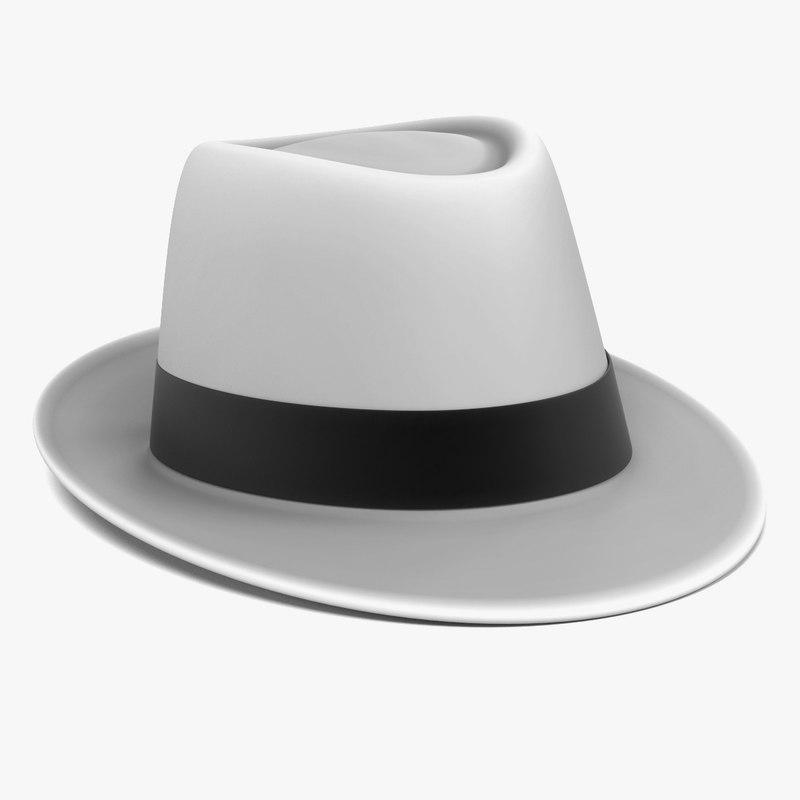 obj fedora hat