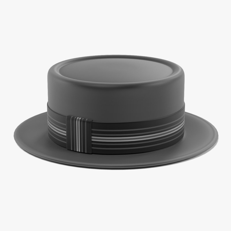 3d model porkpie hat