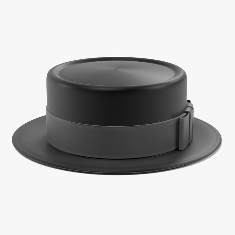 3d porkpie hat model