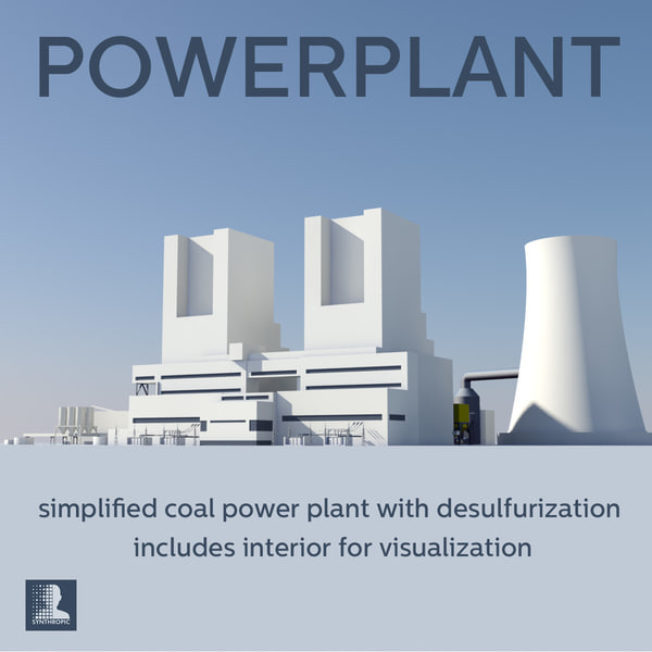 coal power 3d model