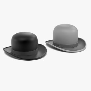 bowler hats 3d model